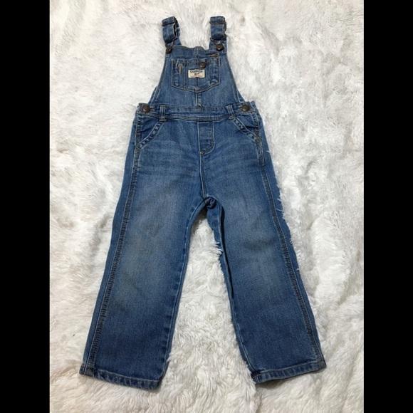 OshKosh Bib Overalls Long Pants Coveralls Boys Girls B/'gosh Unisex 3 mo to 4T